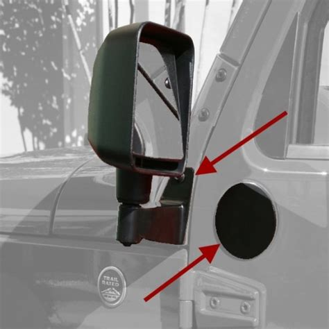 jeep mirror relocation rugged ridge jeep jk mirror relocation brackets black or