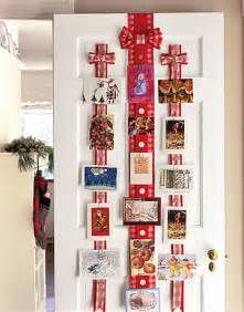decorating with christmas cards
