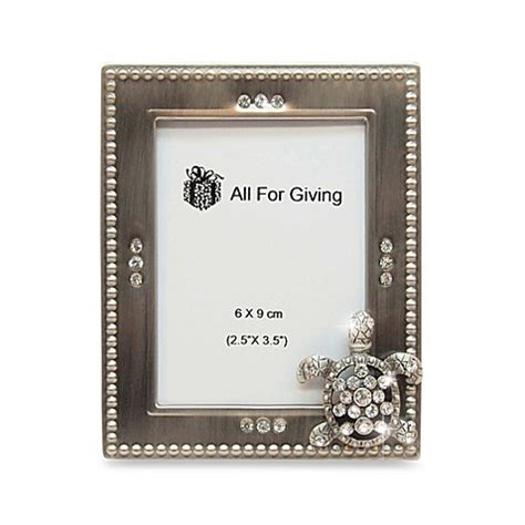 bed bath and beyond picture frames all for giving turtle metal and crystal photo frame bed