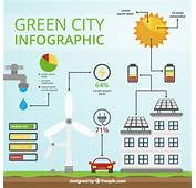 Renewable Energy City Infography Vector  Free Download