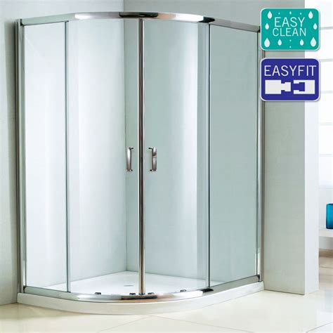 Matrix 1850mm Double Sliding Offset Quadrant Shower Matrix Shower Doors