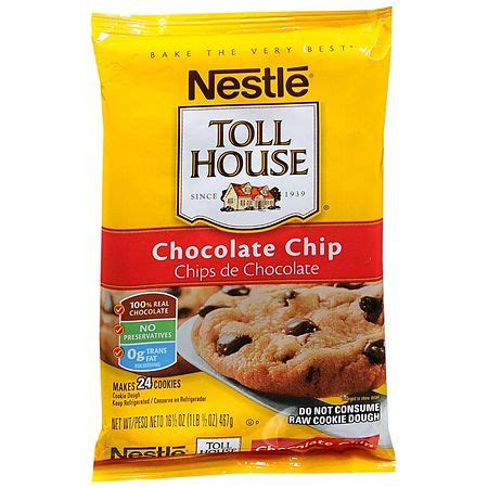 toll house cookie nestle toll house cookie dough chocolate chip walgreens