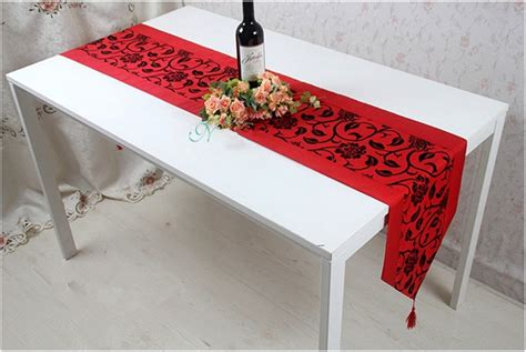 dining table runner aliexpress buy table runner fashion silk brief