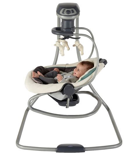 swing and rocker graco duetsoothe swing rocker solar