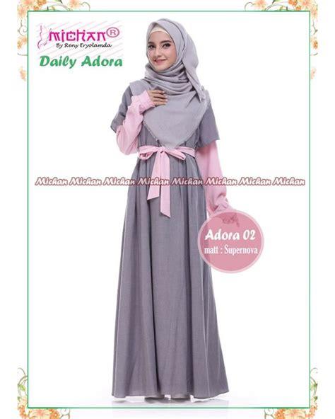 Baju Muslimah Syarii Cantik gamis michan daily adora 02 baju muslim wanita baju
