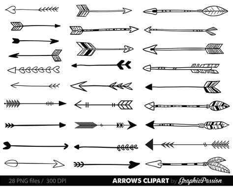 arrow doodle free vector our set comes with 28 png files with transparent