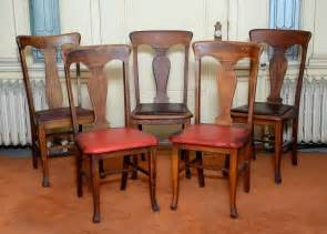 Antique Wooden Dining Room Chairs by Antique Wooden Dining Chairs Five Oak T Back Farm Style