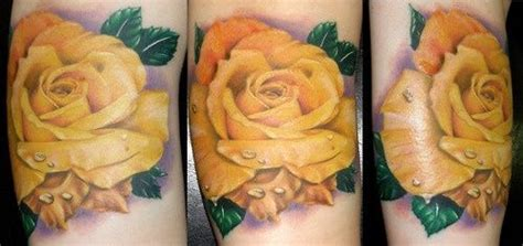 yellow rose memorial tattoo dads memories and yellow roses on