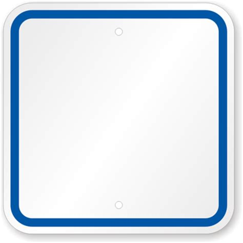 Blank Sign Template by Blank Sign Templates Blue Printed Border Custom Sku