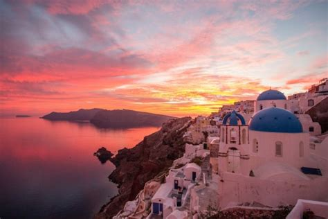 Best Colors For Home by Santorini Oia Sunset Travel Zone Greece