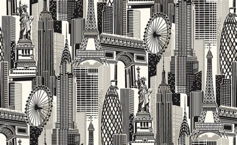 cityscape wallpaper murals give  instant urban vibe