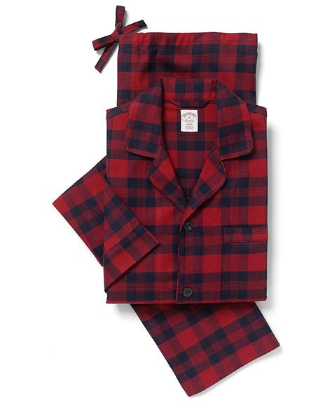 Broos Flanel 1 brothers buffalo windowpane flannel pajamas in for lyst
