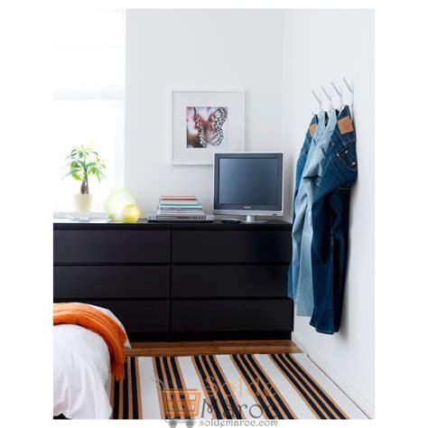 Solde Commode by Soldes Ikea Maroc Commode Malm 3 Tiroirs Noir Brun 649dhs