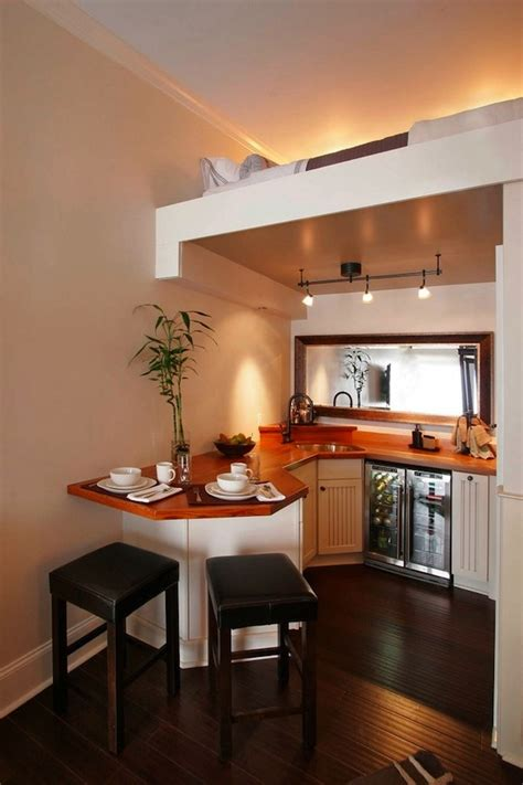 Tiny House Kitchen Ideas by Beautiful Small Kitchen With Upstairs Sleeping Loft Tiny House Pins