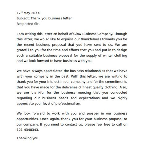 We Appreciate Your Business Letter