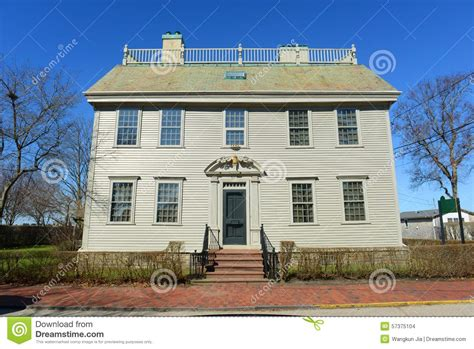 hunter house hunter house rhode island usa stock photo image 57375104
