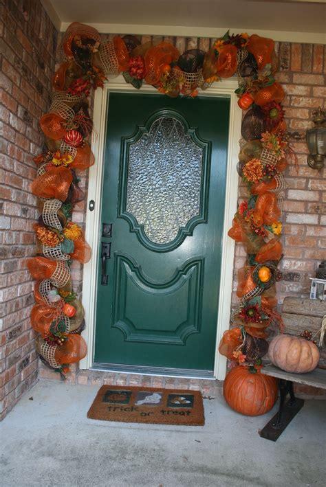 fall deco mesh door garland fall decorations porch fall
