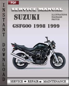 Suzuki Repair Suzuki Gsf600 1998 1999 Workshop Repair Manual Repair