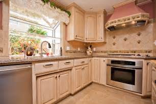 wine themed kitchen with wine cooler and grape tile details