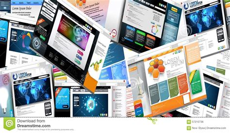 page layout and design concepts web page design concept stock vector image 57210736