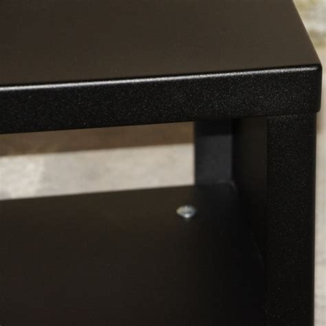 Table D Appoint Metal 5572 by Table D Appoint M 233 Tal Noir Bout De Canap 233 Design Cube