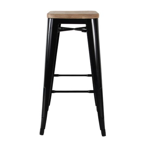 Pictures Of Black Stool by Bar Stool Black W Timber Seat Celebrate Hire