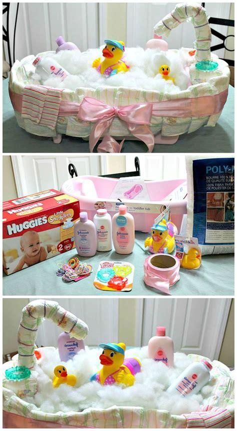 how to make a bathtub diaper cake how to make a diaper tub cake creative gift ideas