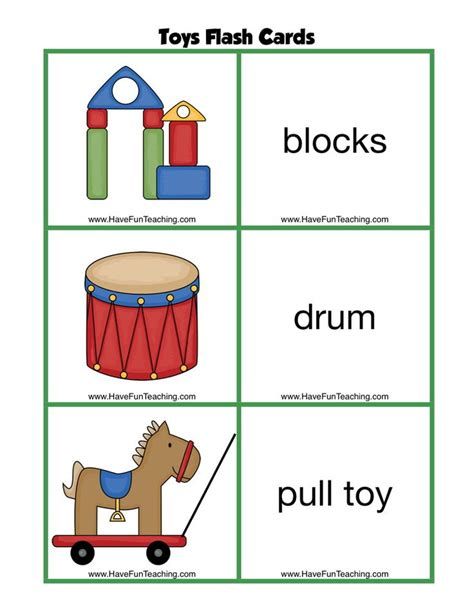 Book Toys Flash Card free toys flash cards these toys flashcards are
