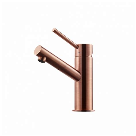 copper taps bathroom basin tap birillo brushed copper 187 swoon