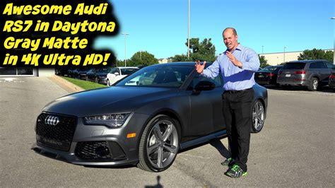 audi rs7 matte 2016 audi rs7 in daytona gray matte in 4k ultra hd