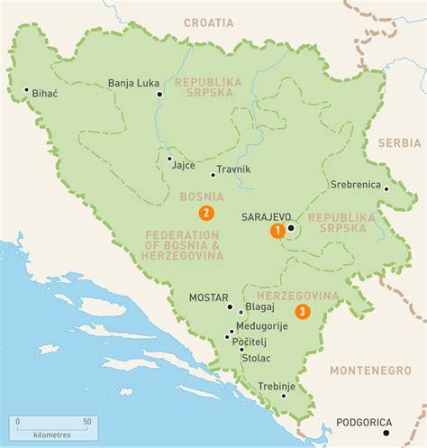 bosnia map map of bosnia herzegovina bosnia herzegovina regions guides