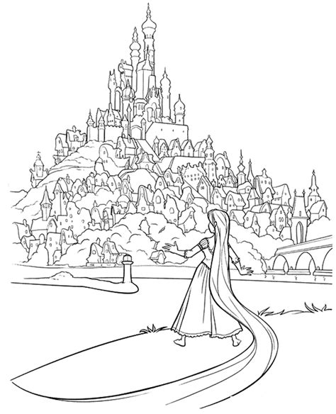 coloring page rapunzel tower tangled coloring pages coloring kids
