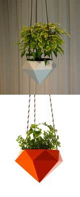 geometric hanging planter 30 unique hanging planters to help you go green