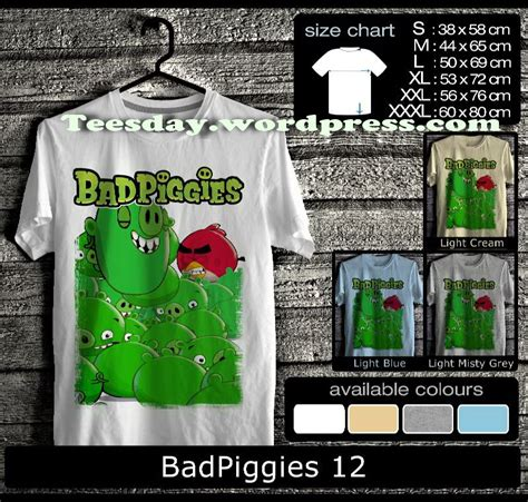 Kaos 9gag Ordinal Apparel bad piggies t shirts bad piggies vs angry birds t shirts special fo bad piggies