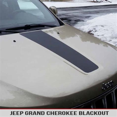 jeep grand cherokee blackout hood blackout vinyl decal for jeep cherokee wk2 11 17