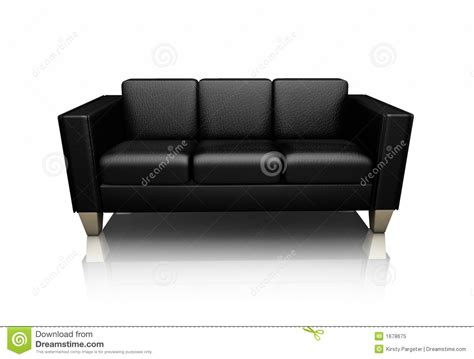 black leather settees black leather settee royalty free stock photo image 1678675