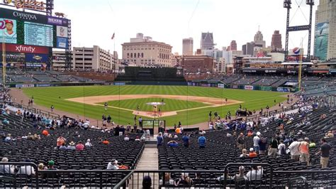 section 120 comerica park tiger den comerica park baseball seating rateyourseats com
