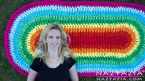 how to crochet oval rug diy tutorial how to crochet oval rag rug floor carpet doovi