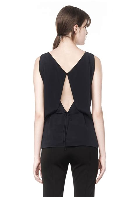 back drape alexander wang exclusive top with folded back drape top