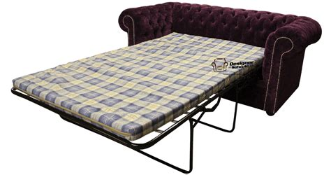 Velvet Sofa Bed Chesterfield Sofabed 2 Seater Velvet Sofa Bed Velluto Amethyst Purple Fabric Ss Ebay