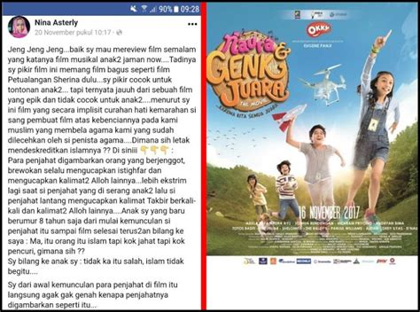 fb nina asterly kontroversi film quot naura genk juara quot nina asterly ini