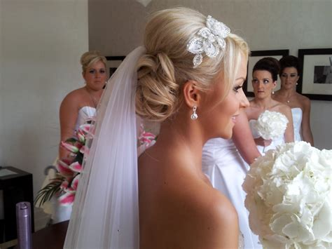 Wedding Hair And Veil by Stylish Hairstyle With And Hairs With Veil For