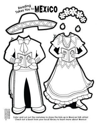 mexican doll coloring page 445 best one world paper dolls images on pinterest paper