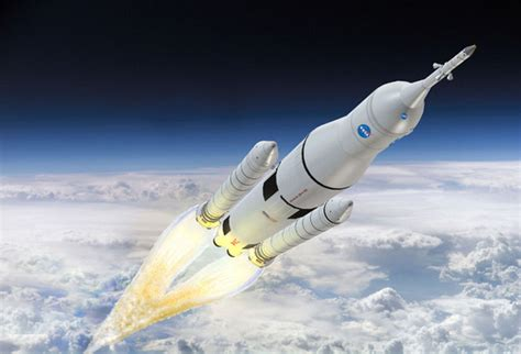 nasa rocket ship in space