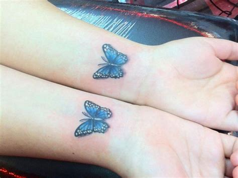 blue tattoo 79 beautiful butterfly wrist tattoos