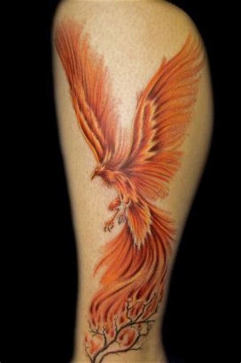 phoenix tattoo on thigh phoenix pics tat on leg tattoo from itattooz