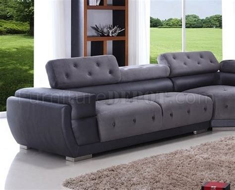 black and grey sectional sofa 8097 grey black sectional sofa by american eagle