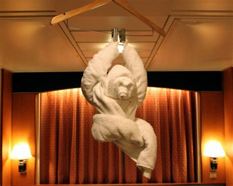 Towel Origami Monkey - how to do towel foldings other creative ways to