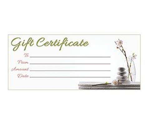 printable back rub gift certificates gift certificates zen and orchids on pinterest