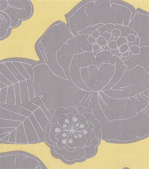 54 home decor value print fabric sted floral gray